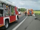 Auslaufen klein nach Verkehrsunfall A261 Buchholzer Dreieck Richtung HH