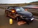 Auslaufen klein nach Verkehrsunfall BAB A1